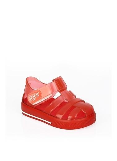 Igor Igor Star Brillo S10245 Kauçuk N Baskılı Unisex Çocuk Sandalet Kırmızı